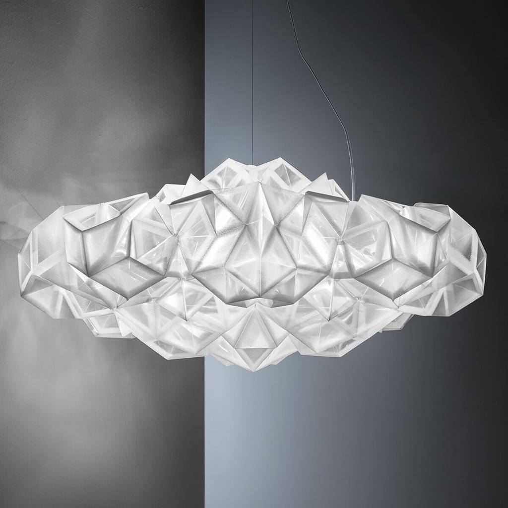 Produktové foto Slamp Slamp Drusa - designové závěsné světlo, bílé