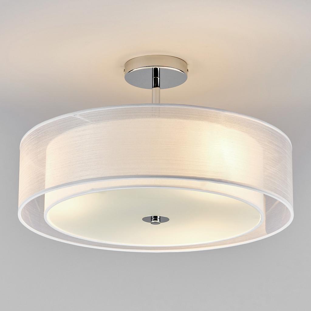 Produktové foto Lindby Stropní LED světlo Pikka s bílým stínítkem