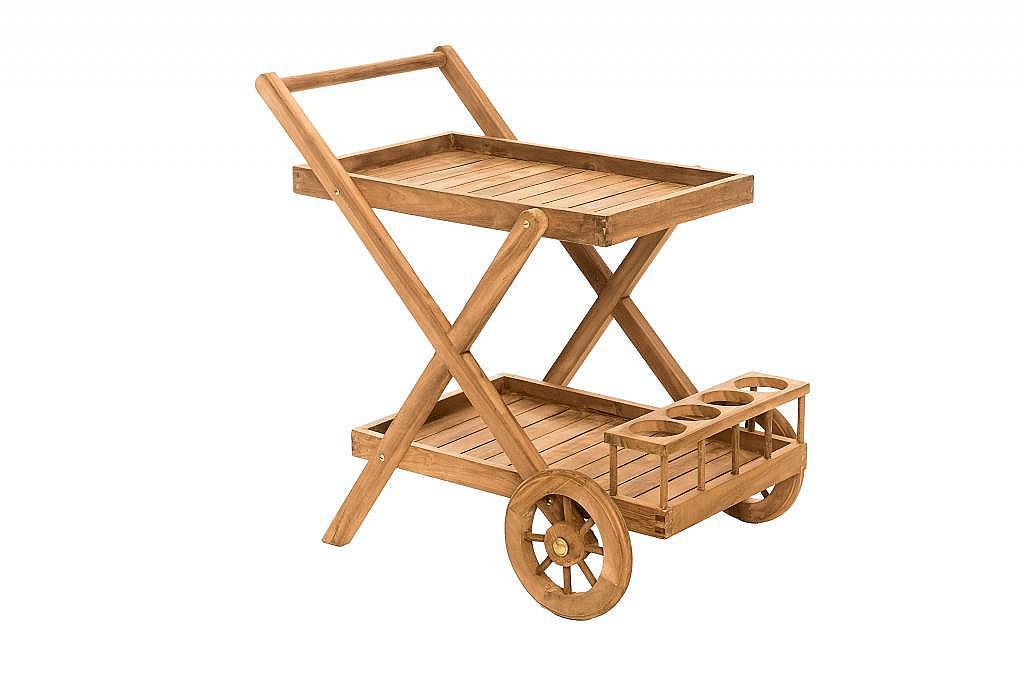 Produktové foto DEOKORK Zahradní servírovací vozík teak MONTE