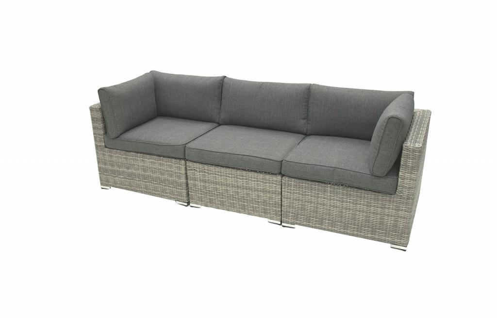 Produktové foto Ratanová 3-místná lavice SEVILLA (šedá)