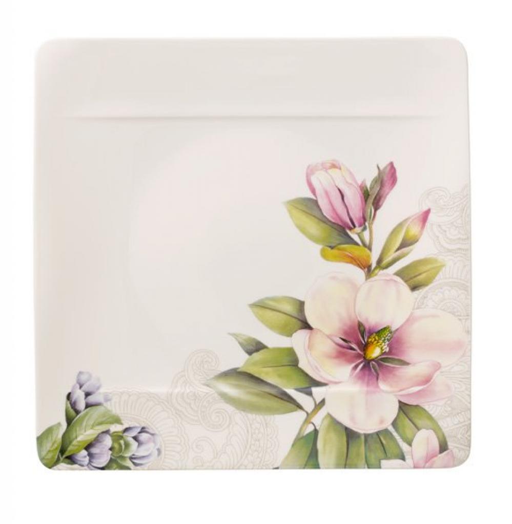 Produktové foto Villeroy & Boch Quinsai Garden jídelní talíř růžovo-modrý, 27 x 27 cm