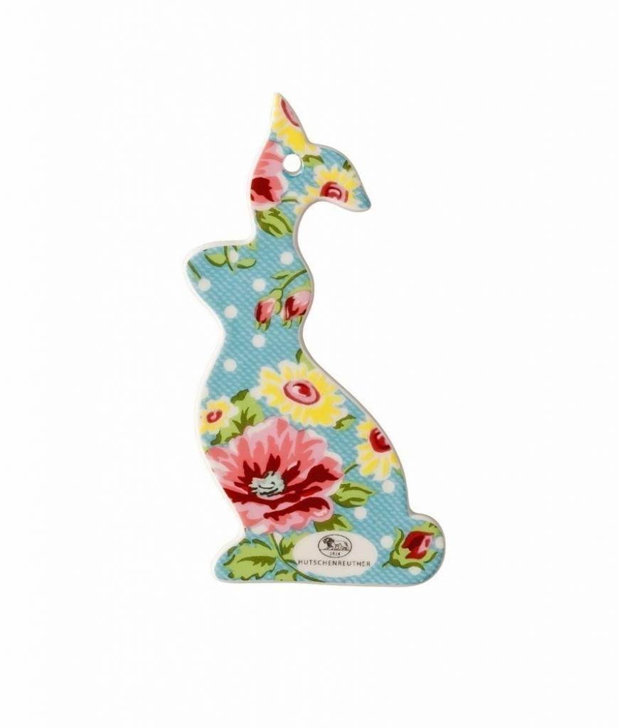 Produktové foto Rosenthal Springtime Flowers velikonoční dekorace zajíček modrý, 10 x 5,5 cm