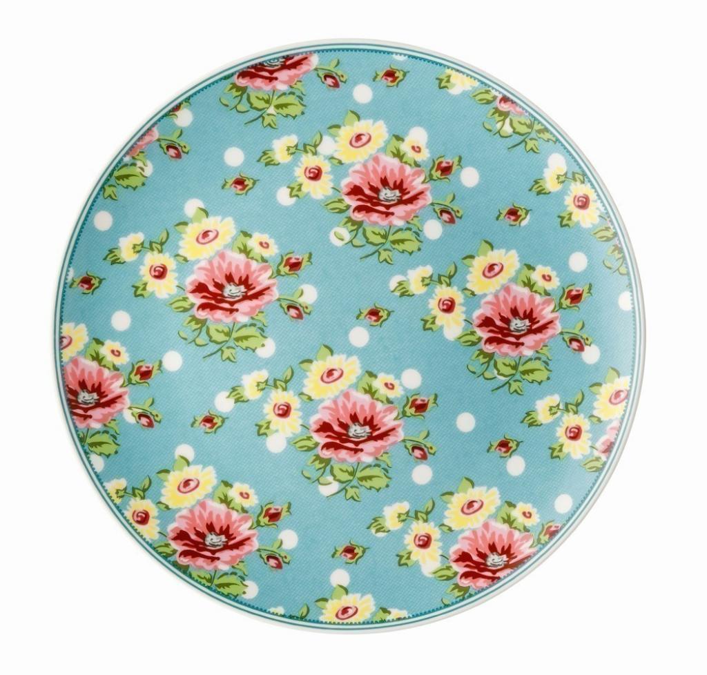 Produktové foto Rosenthal Springtime Flowers talíř Turquise, ø 22 cm
