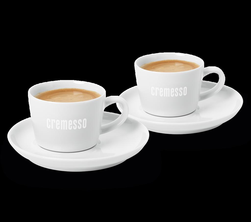 Produktové foto Cremesso set 2 šálků na kávu s podšálky
