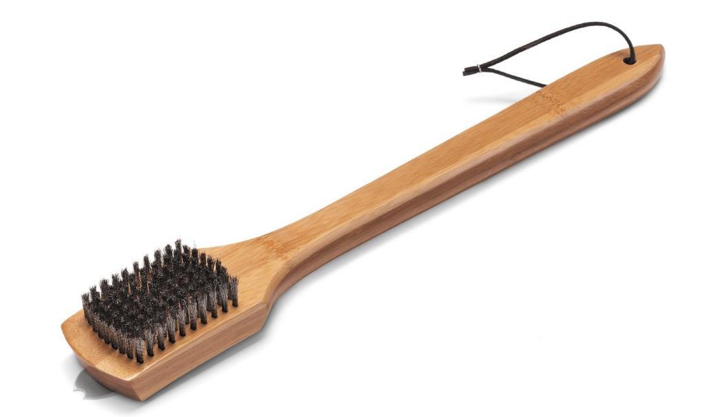 Produktové foto Weber Grilovací kartáč na čištění roštů s bambusovou rukojetí, 45 cm