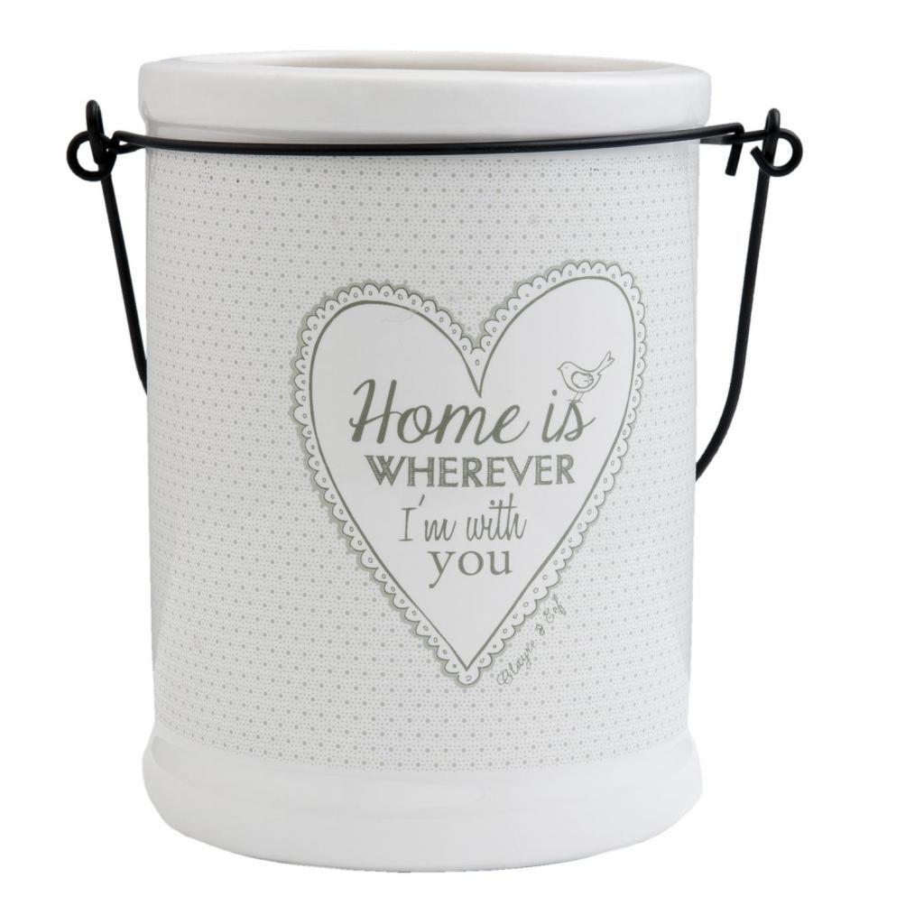 Produktové foto Závěsná keramická dóza My Lovely Home - pr 12 * 17 cm