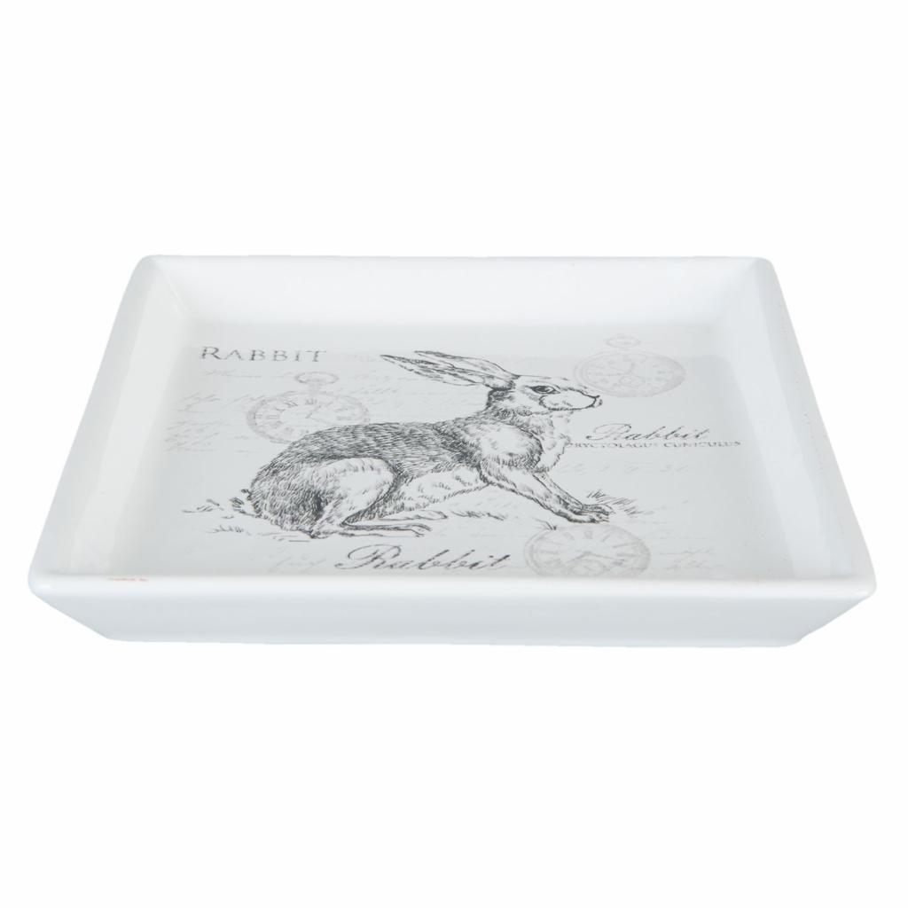 Produktové foto Keramická velikonoční miska s králíkem Rabbit - 15*15*2 cm
