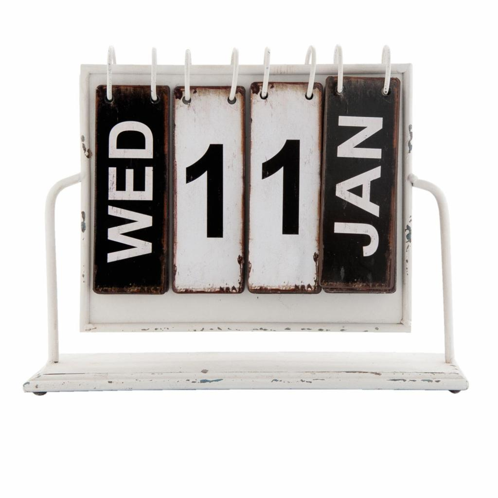 Produktové foto Kovový kalendář v retro stylu - 26*8*22 cm