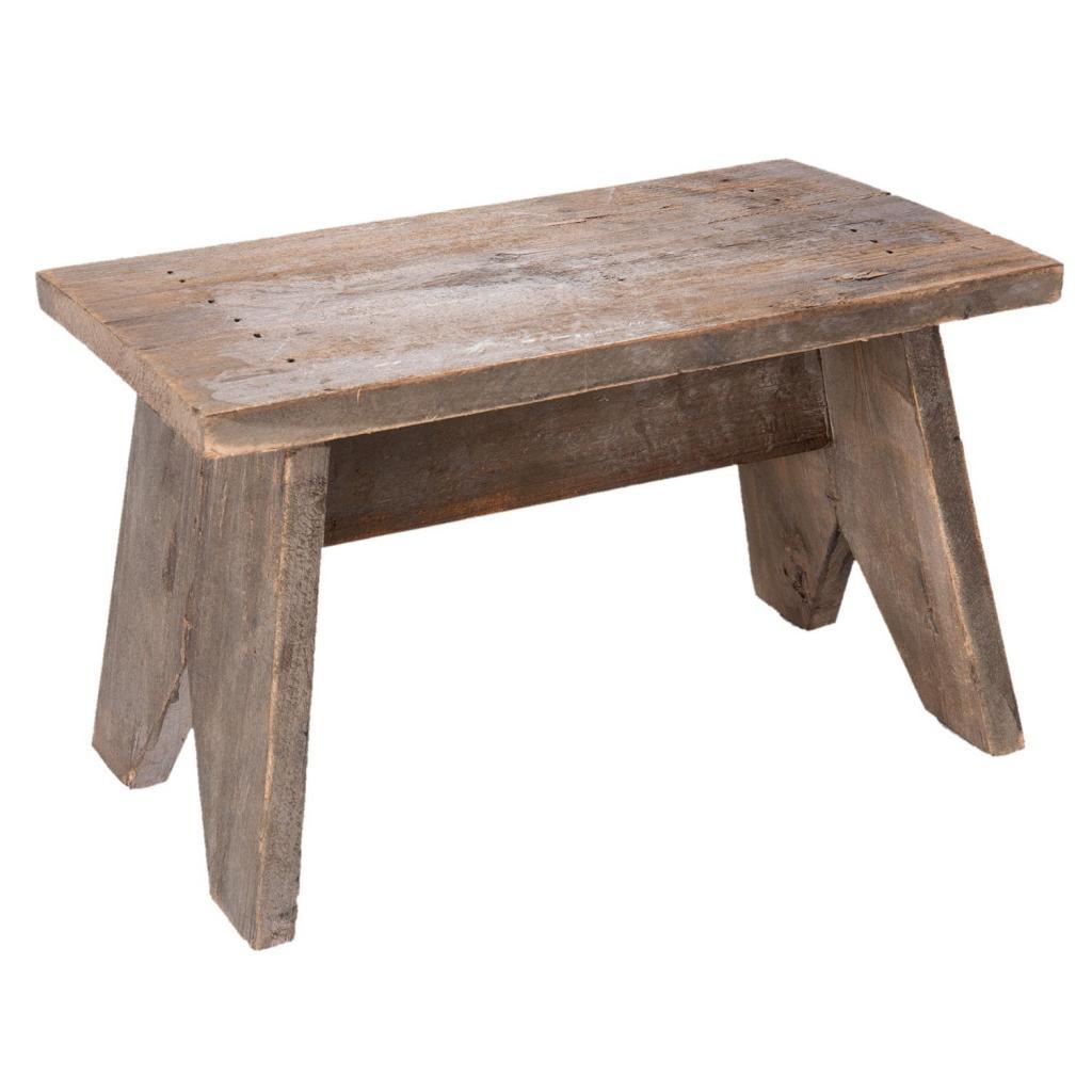 Produktové foto Dřevěná retro stolička - 34*18*22 cm