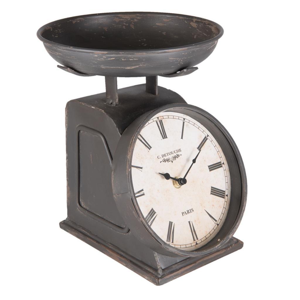 Produktové foto Kovové stolní retro hodiny Detouche - 21*23*26 cm