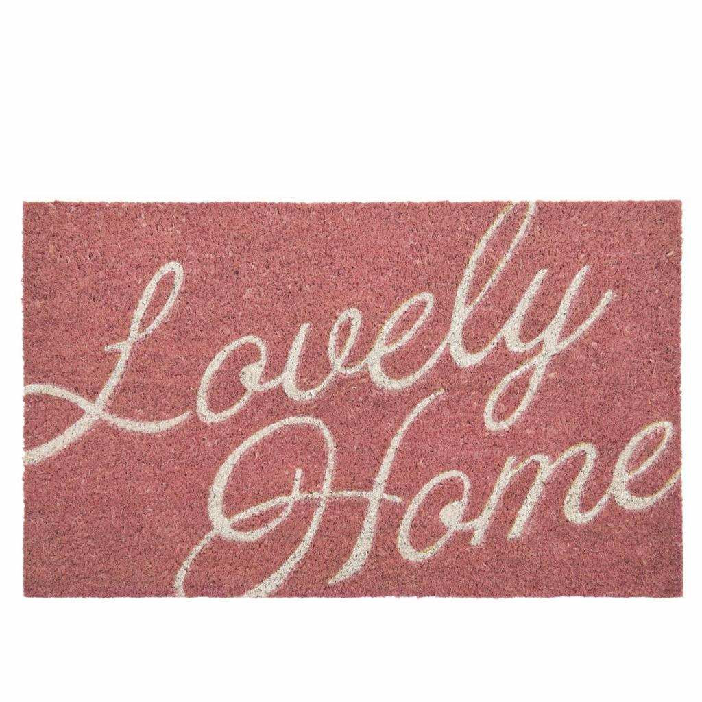 Produktové foto Růžová kokosová rohožka Lovely Home - 75*45 cm