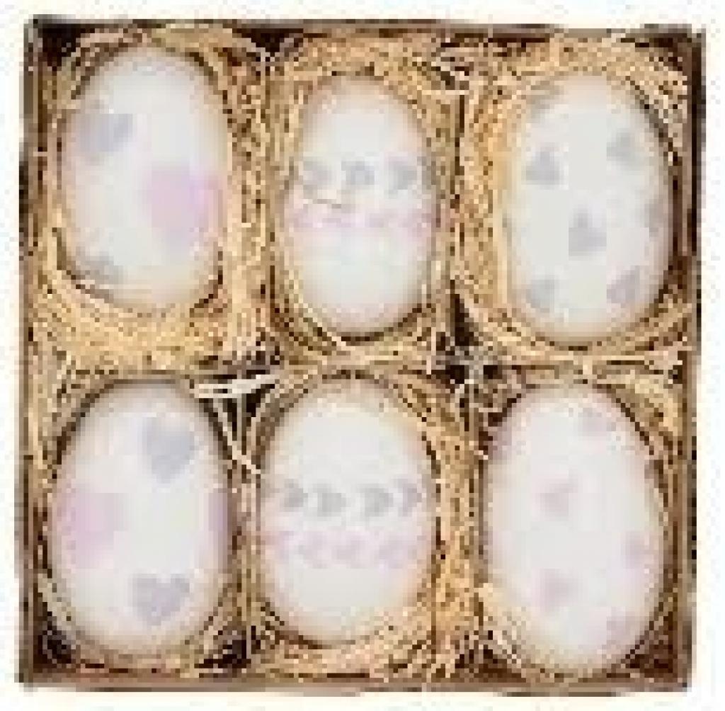 Produktové foto Velikonoční vajíčka s potiskem - 6ks - Ø 4,5*7 cm