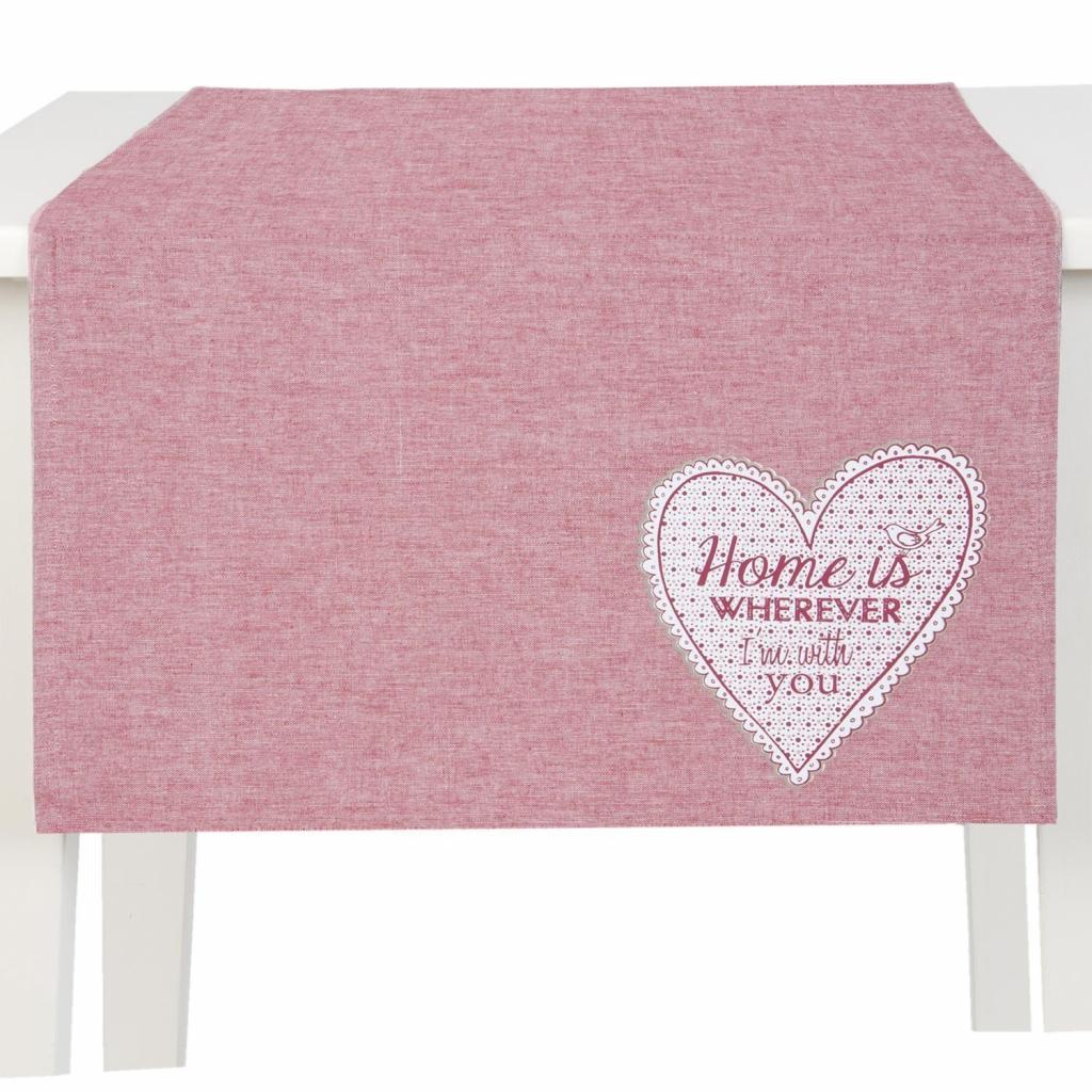 Produktové foto Běhoun na stůl My Lovely Home Red - 50*140 cm