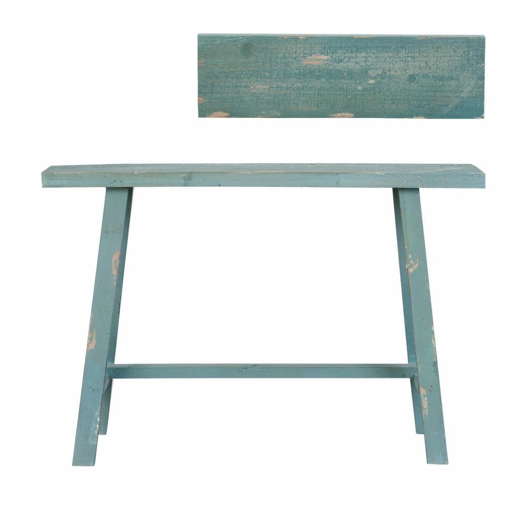 Produktové foto Modrý vintage odkládací stolek, stolička - 60*21*40 cm