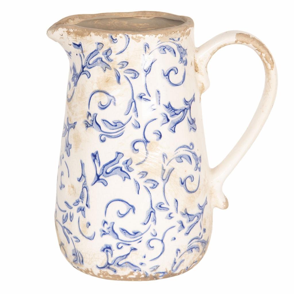 Produktové foto Retro džbán s modrými květy - 17*12*18 cm