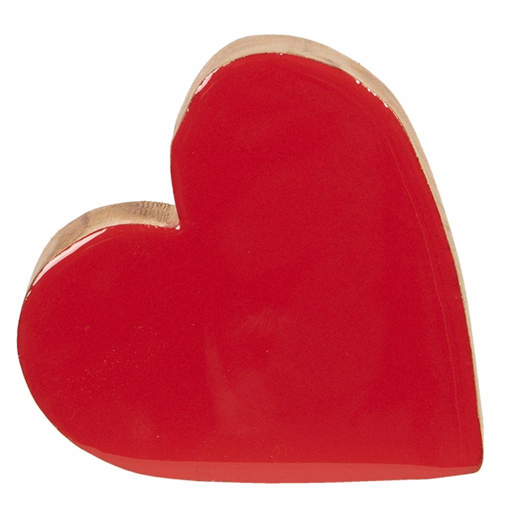 Produktové foto Dřevěné srdce červené - 19*18*2 cm