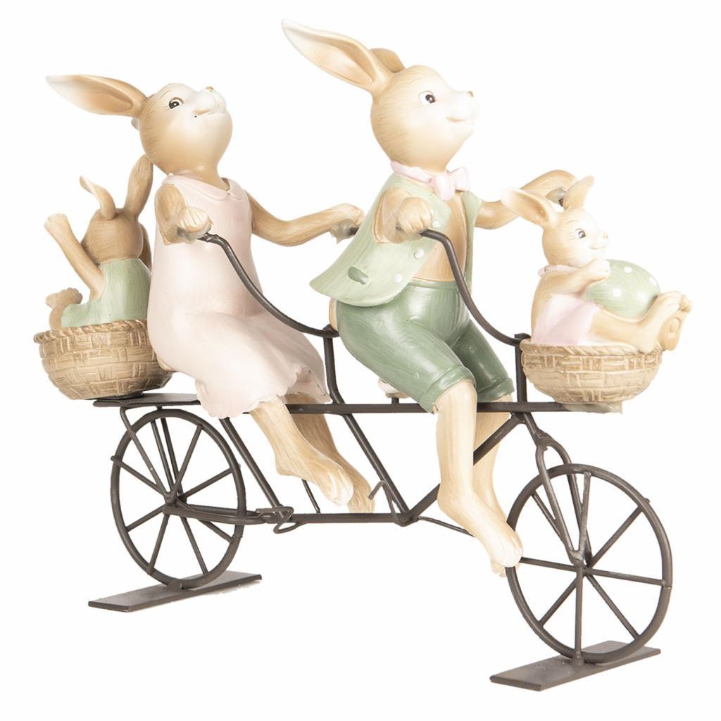 Produktové foto Dekorace králíků na kole - 10*9*25 cm