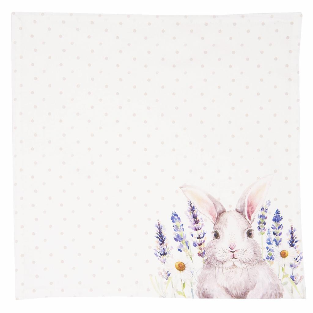 Produktové foto Textilní ubrousky Lavander Fields s králíčkem - 40*40 cm - 6ks