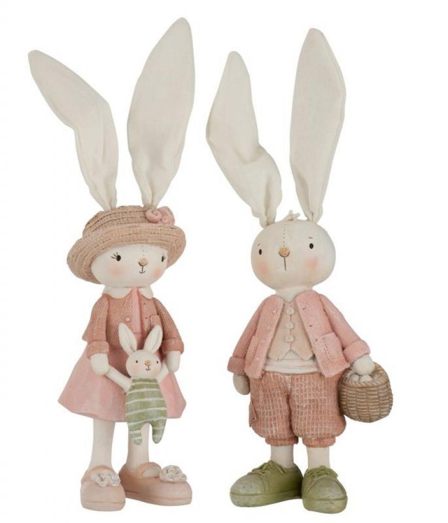 Produktové foto Dekorace králičí chlapec a dívka - 10*31cm