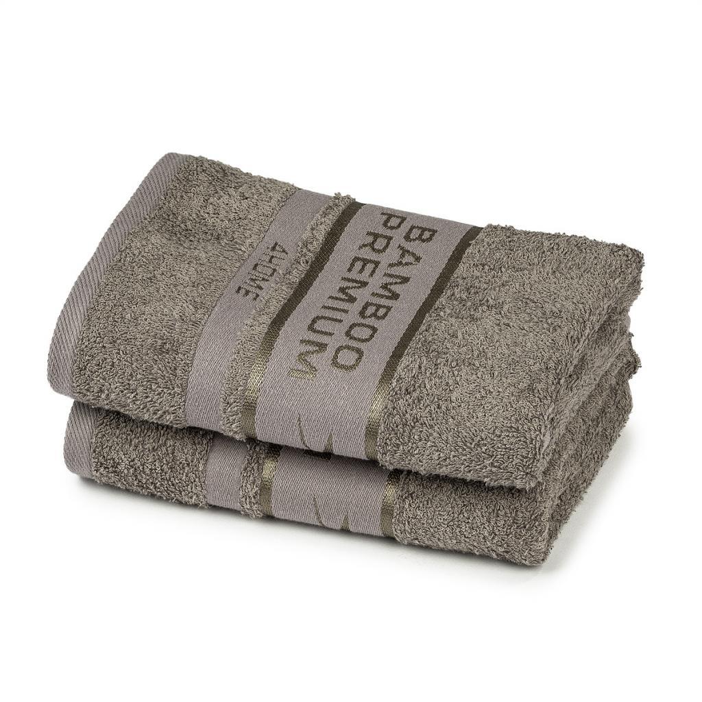 Produktové foto 4Home Ručník Bamboo Premium šedá, 30 x 50 cm, sada 2 ks