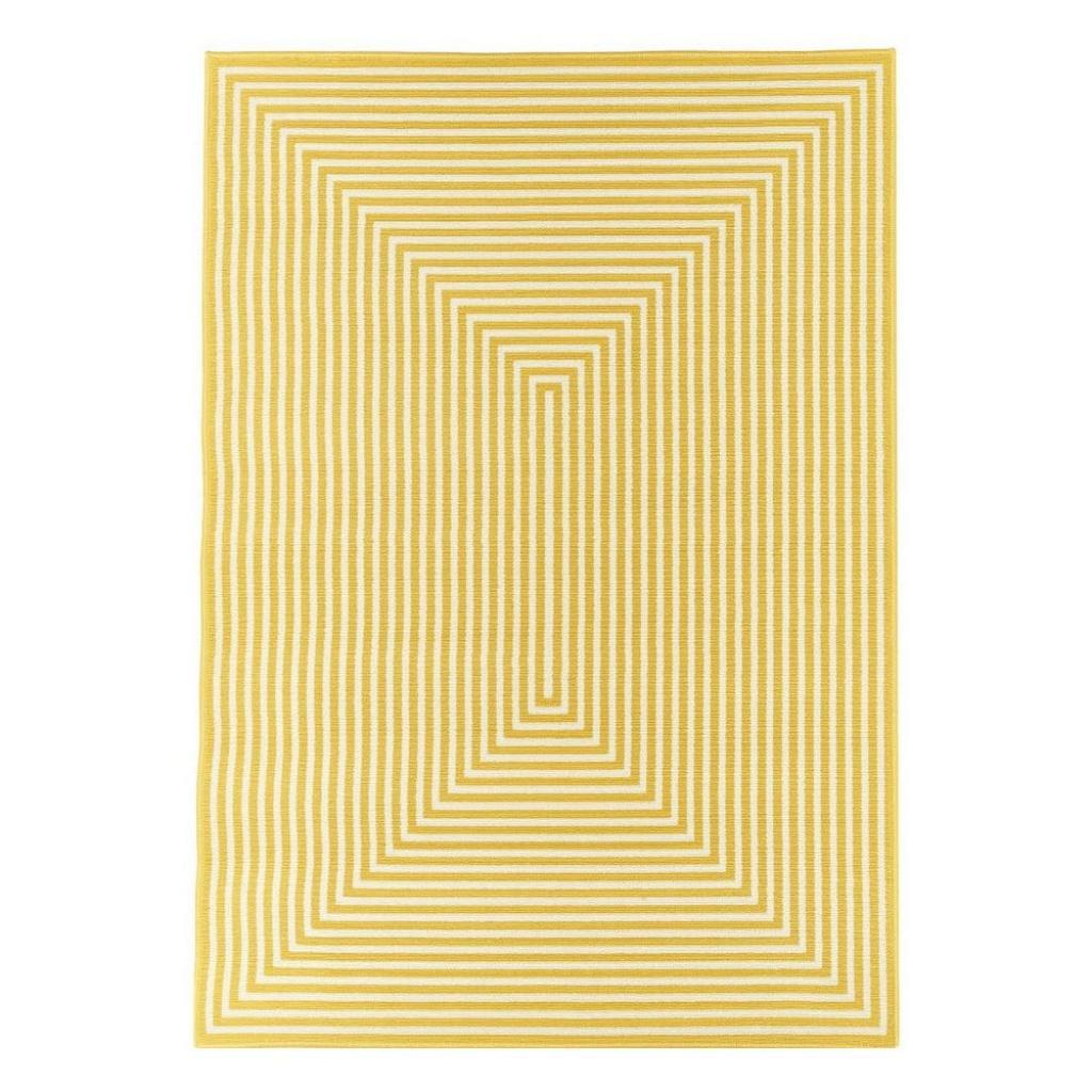 Produktové foto Žlutý venkovní koberec Floorita Braid, 133 x 190 cm