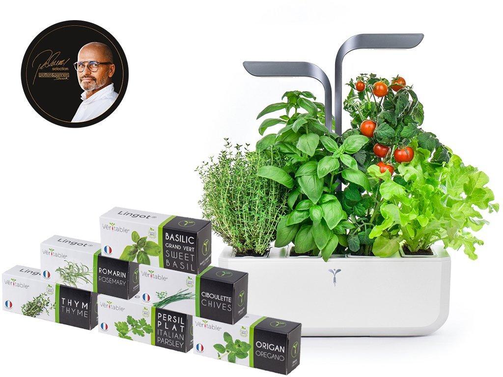 Produktové foto Chytrý květináč Véritable® CONNECT, Infinity Grey, 6 lingotů, Pohlreich Selection
