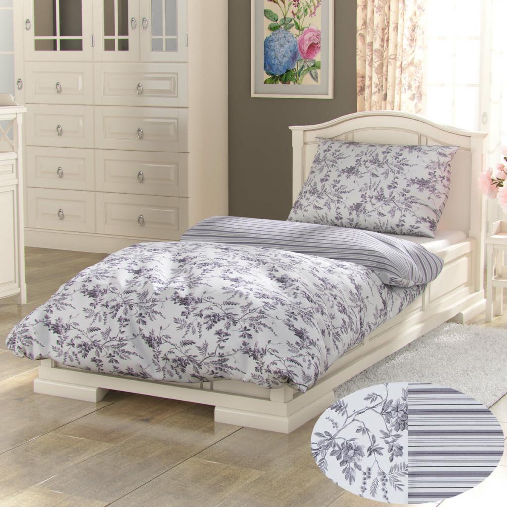 Produktové foto Kvalitex Bavlněné povlečení Provence Montera šedá, 240 x 200 cm, 2 ks 70 x 90 cm