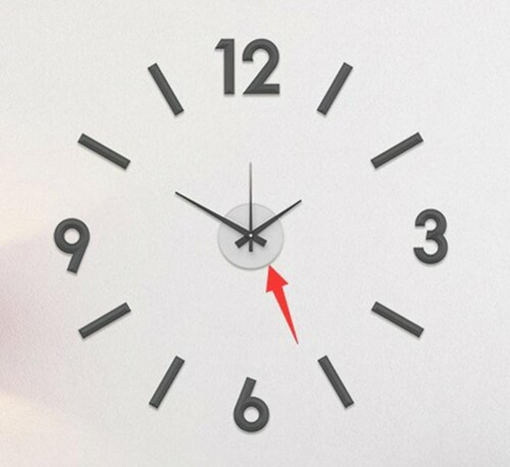 Produktové foto Nástěnné nalepovací hodiny Galant 60 cm, stříbrná