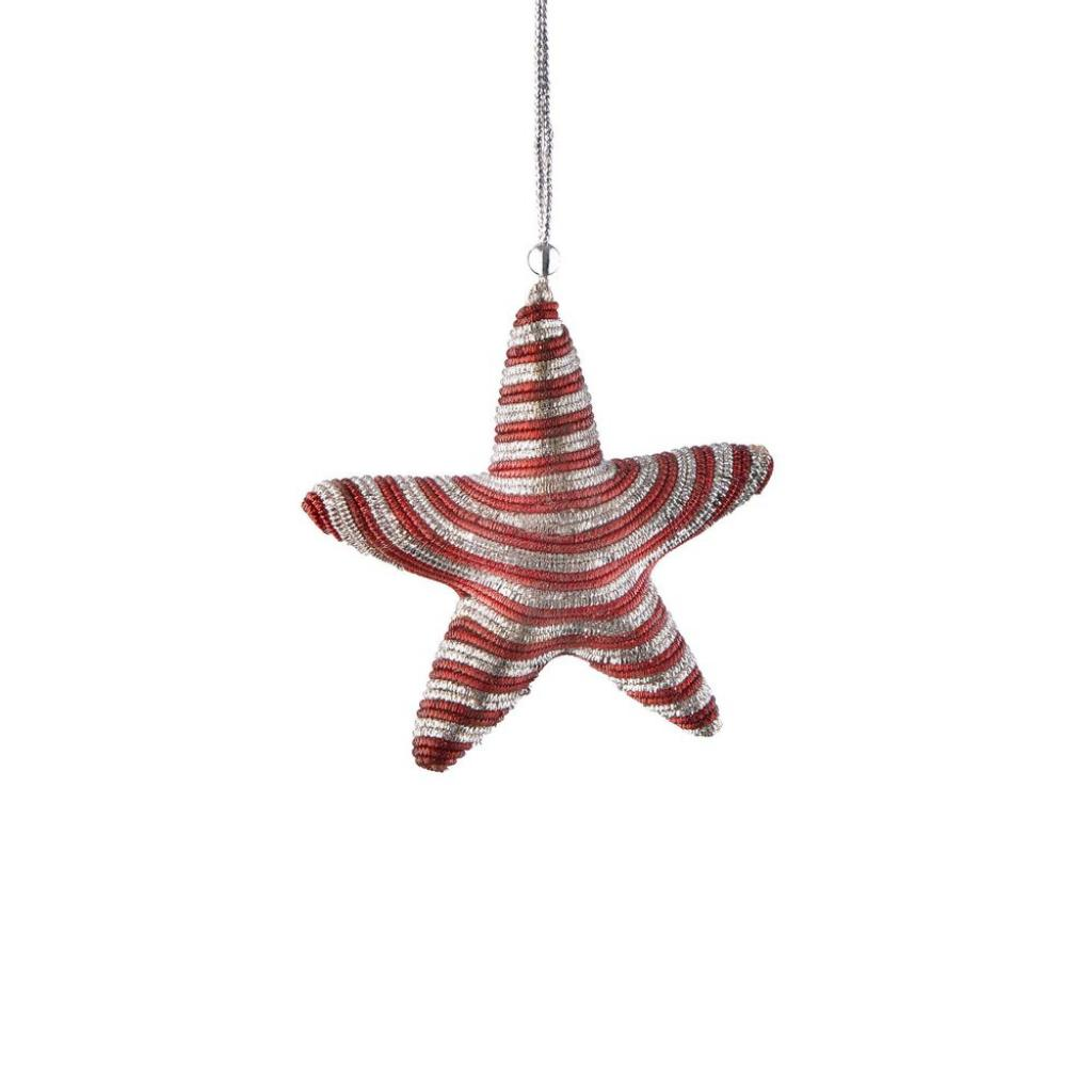 Produktové foto HANG ON Sada vánočních ozdob hvězdy 4 ks