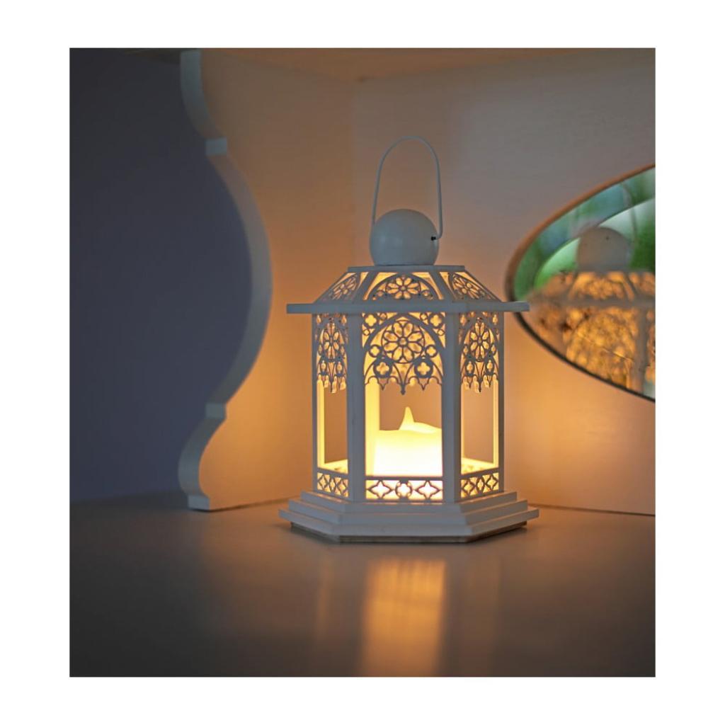 Produktové foto Béžová LED lucerna Best Season German, výška 20 cm