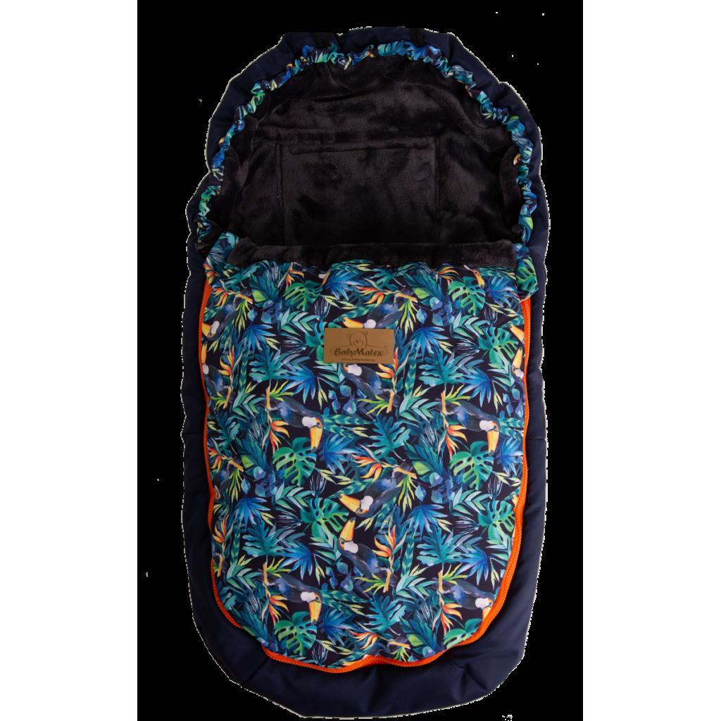 Produktové foto Babymatex Nepromokavý fusak Saturn modrá tukani, 100 cm