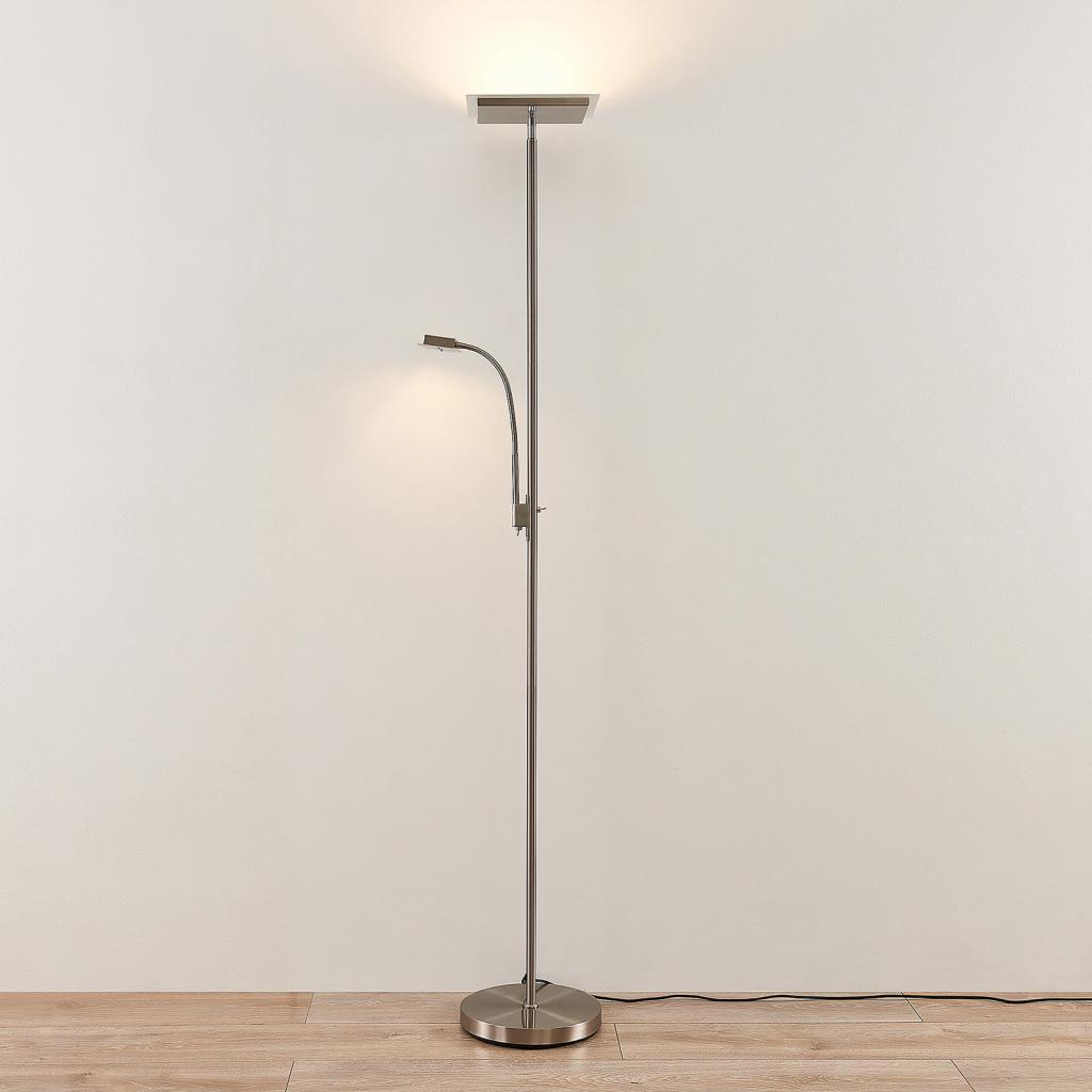 Produktové foto Lindby Lindby Kavi LED stojací lampa čtecí světlo hranatá