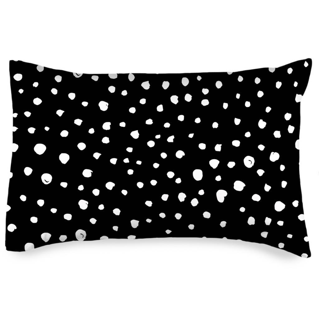 Produktové foto 4home Povlak na polštářek Puntíky Dalmatin černobílá, 50 x 70 cm
