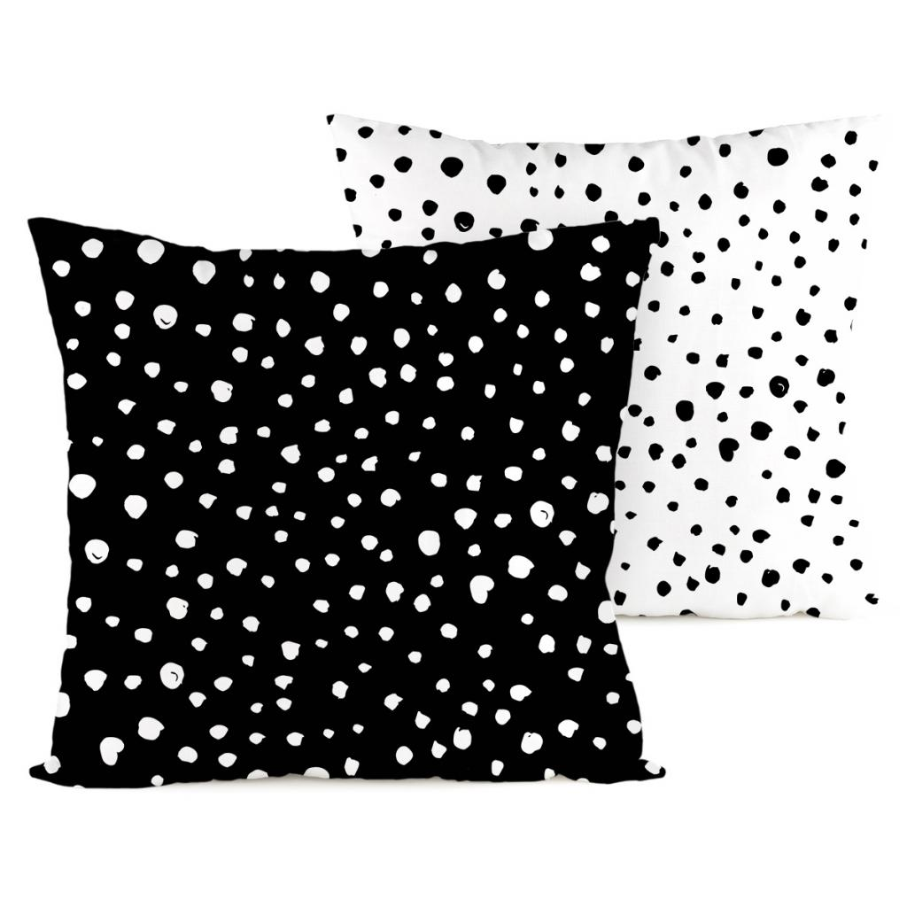 Produktové foto 4home Povlak na polštářek Puntíky Dalmatin černobílá, 40 x 40 cm