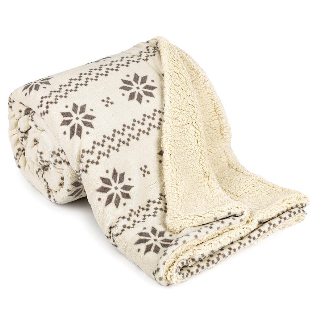 Produktové foto 4Home Beránková deka Nordic béžová, 150 x 200 cm