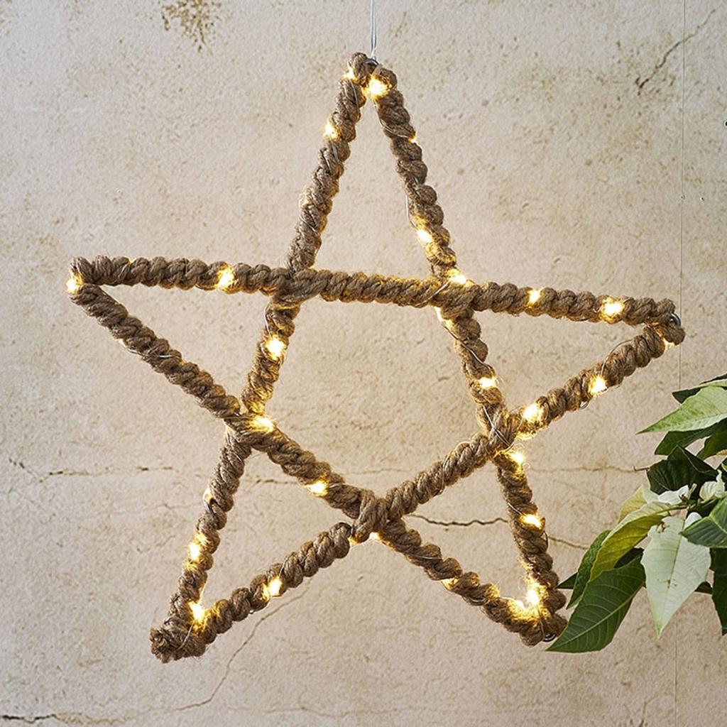 Produktové foto Best Season Jutta LED dekorační hvězda s jutovým lankem