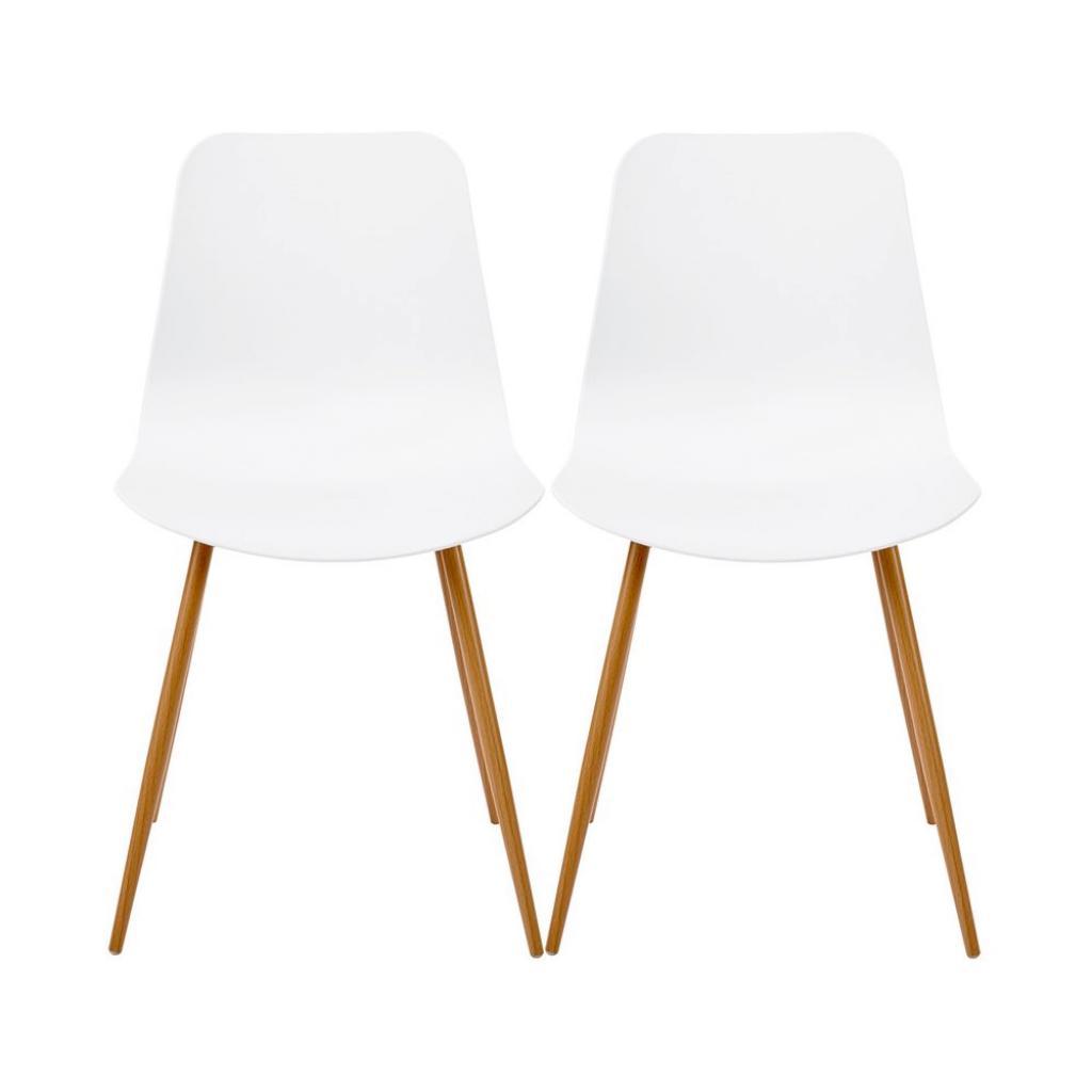 Produktové foto SHELL Židle set 2 ks - bílá