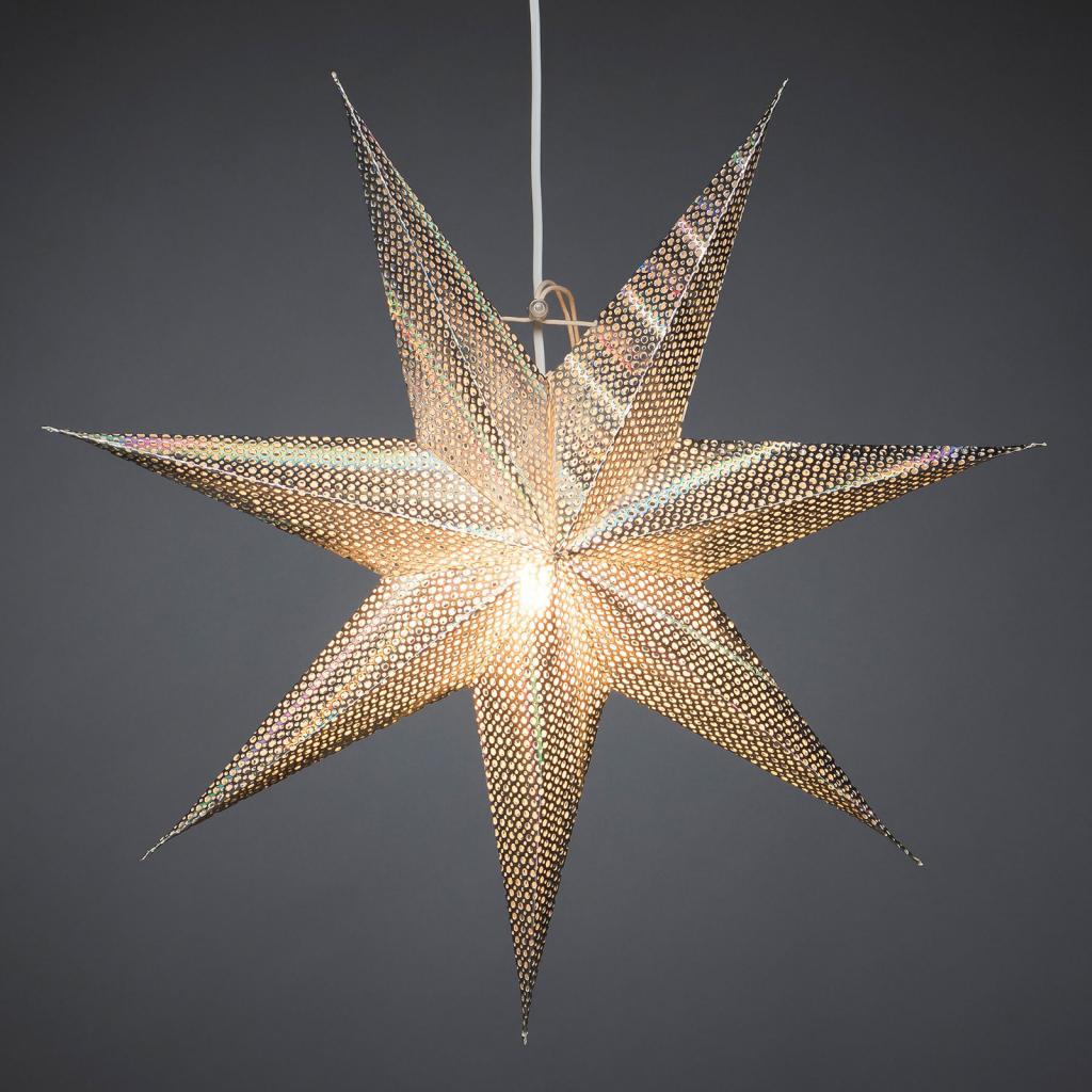 Produktové foto Konstmide CHRISTMAS Dekorativní hvězda z papíru, stříbrná, 7cípá