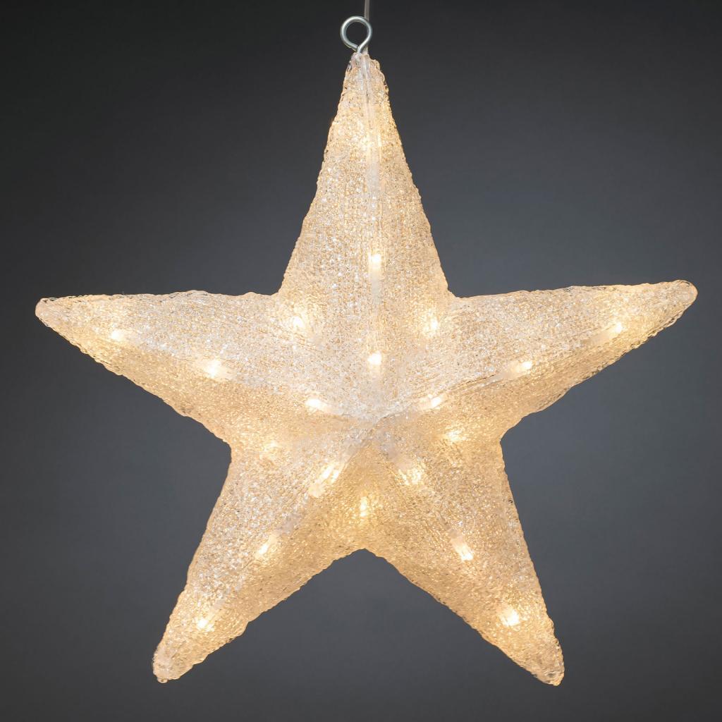 Produktové foto Konstmide CHRISTMAS LED dekorativní hvězda pro exteriér, Ø 40 cm