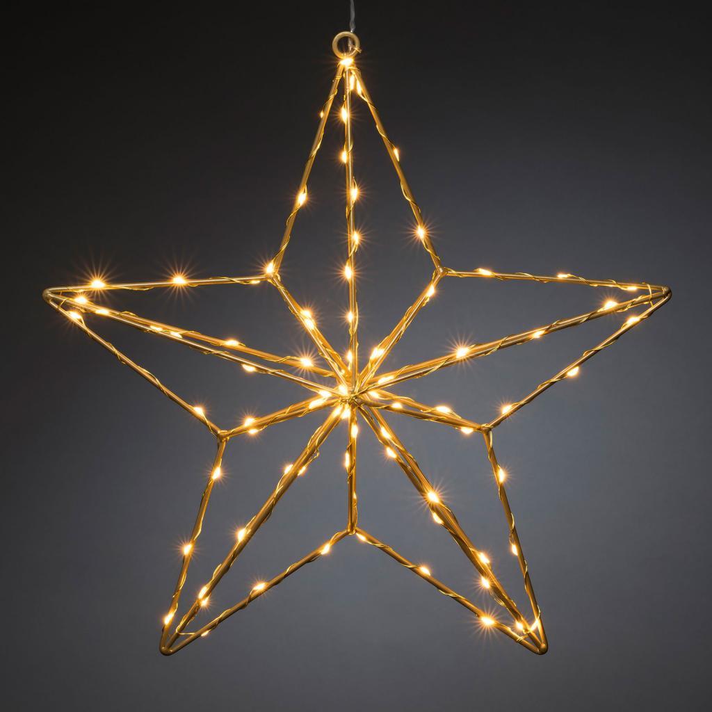 Produktové foto Konstmide CHRISTMAS LED dekorativní světlo zlatá hvězda 37x36 cm