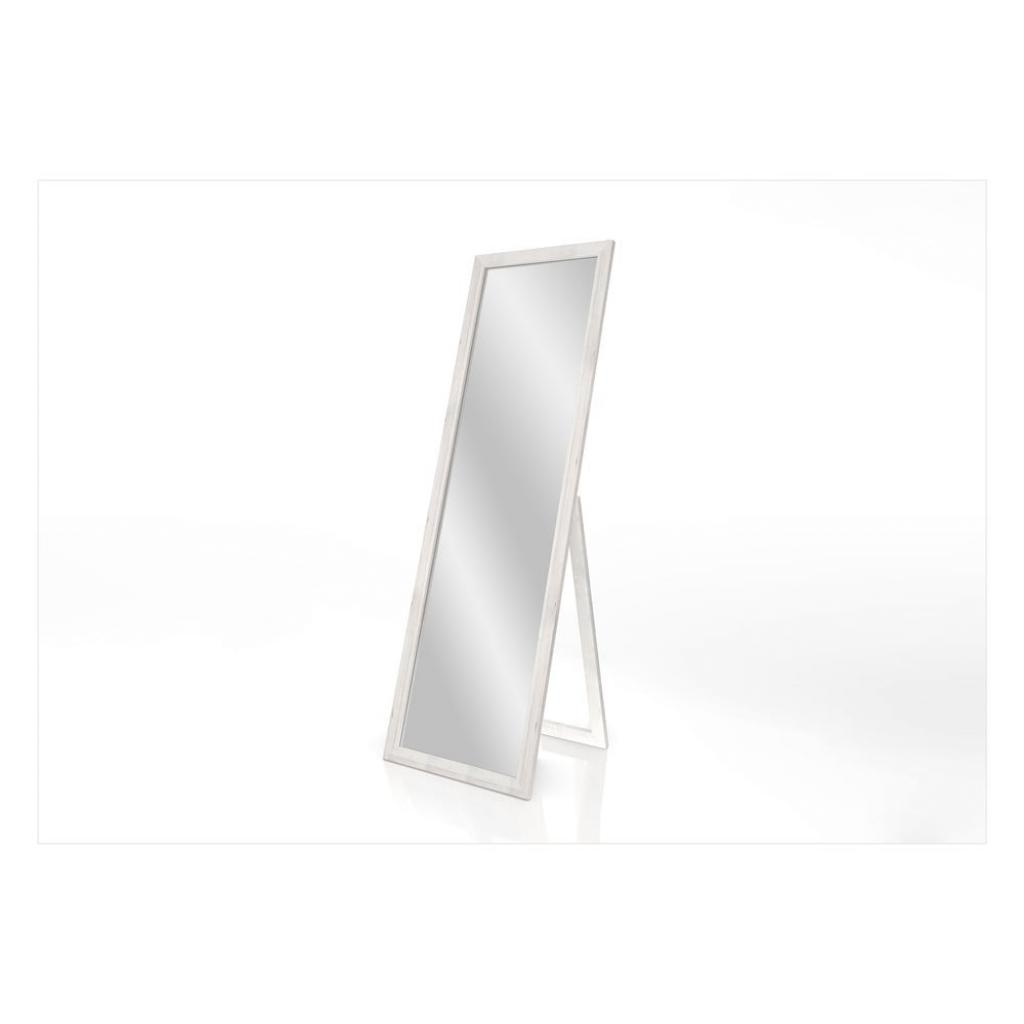 Produktové foto Stojací zrcadlo s bílým rámem Styler Sicilia, 46 x 146 cm