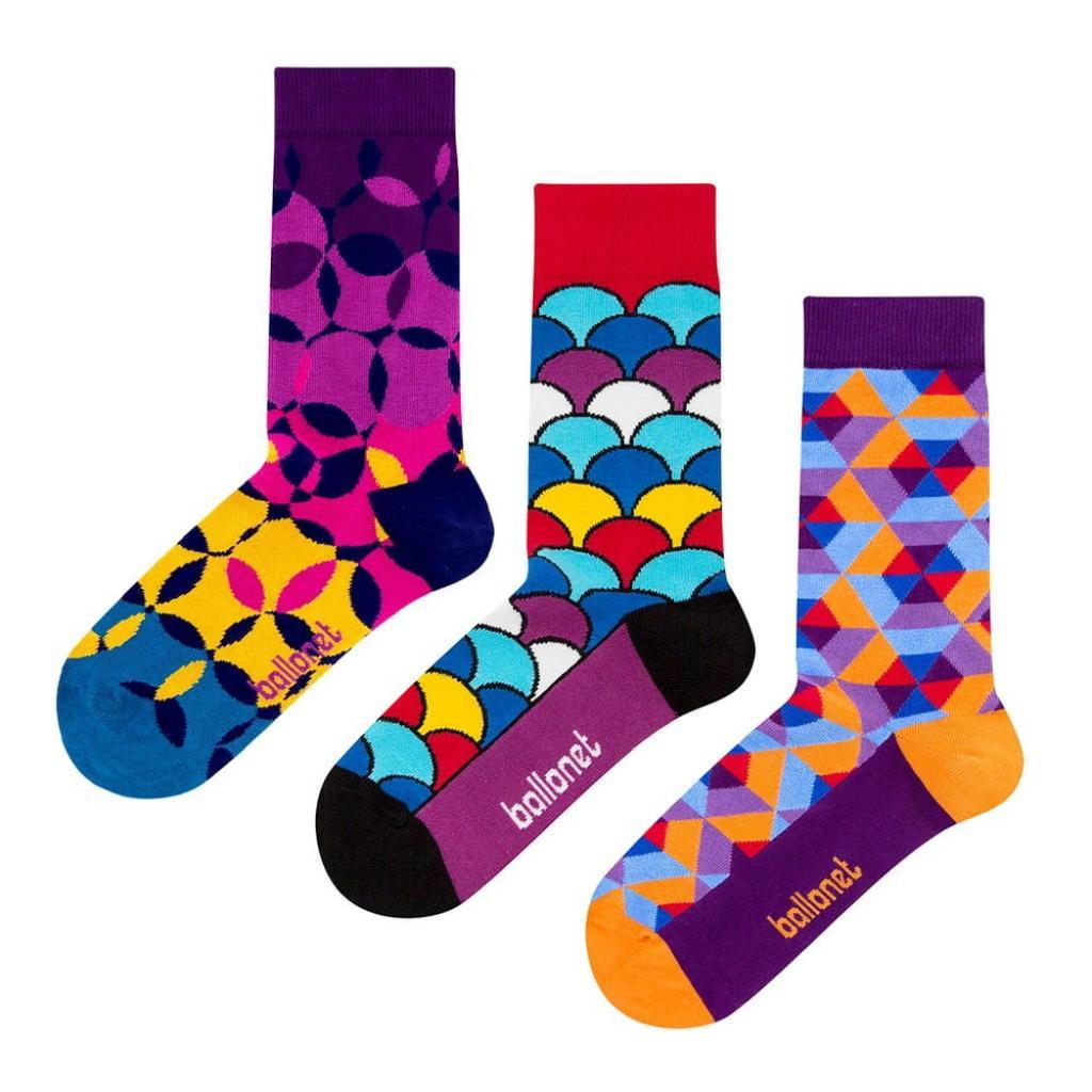 Produktové foto Set 3 párů ponožek Ballonet Socks Geo v dárkovém balení, velikost 41 - 46