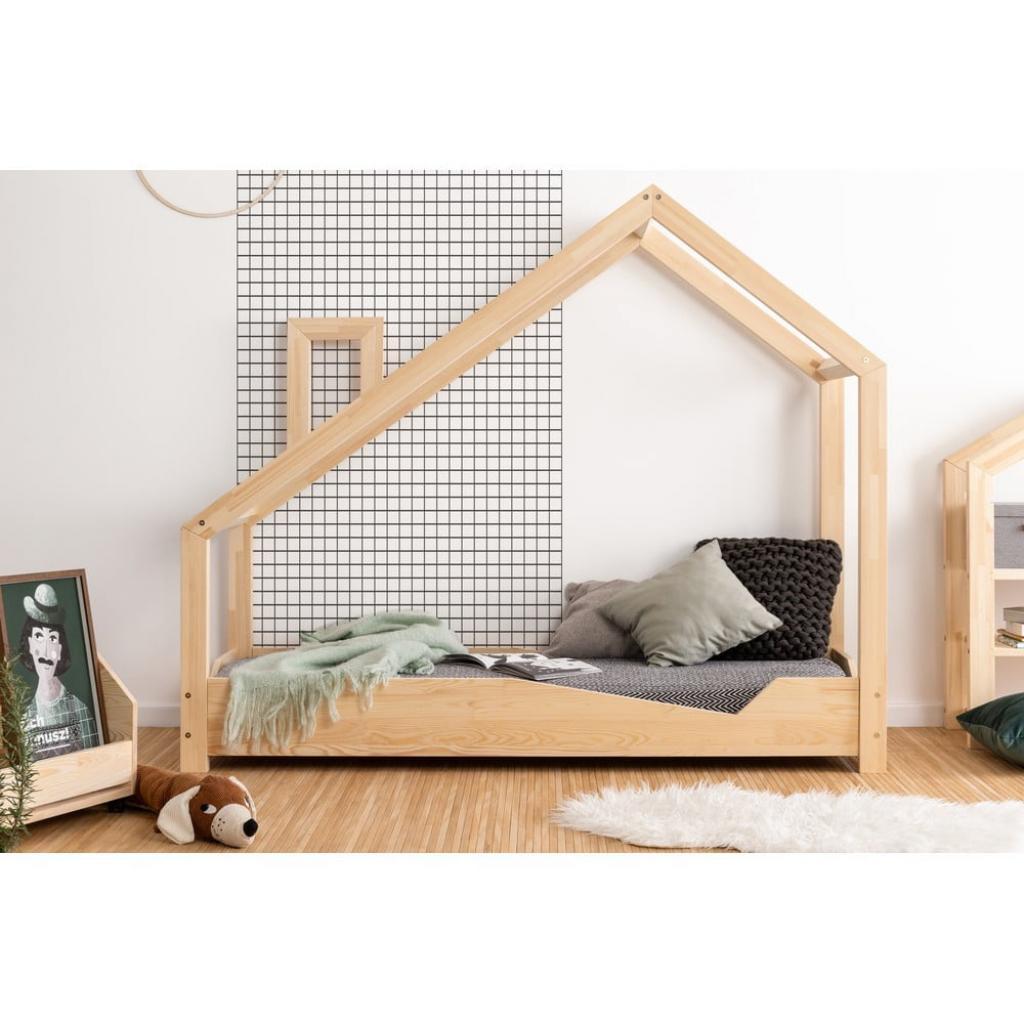 Produktové foto Domečková postel z borovicového dřeva Adeko Luna Adra,100x160cm