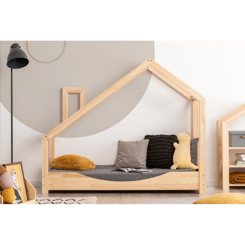 Produktové foto Domečková postel z borovicového dřeva Adeko Luna Elma,90x140cm