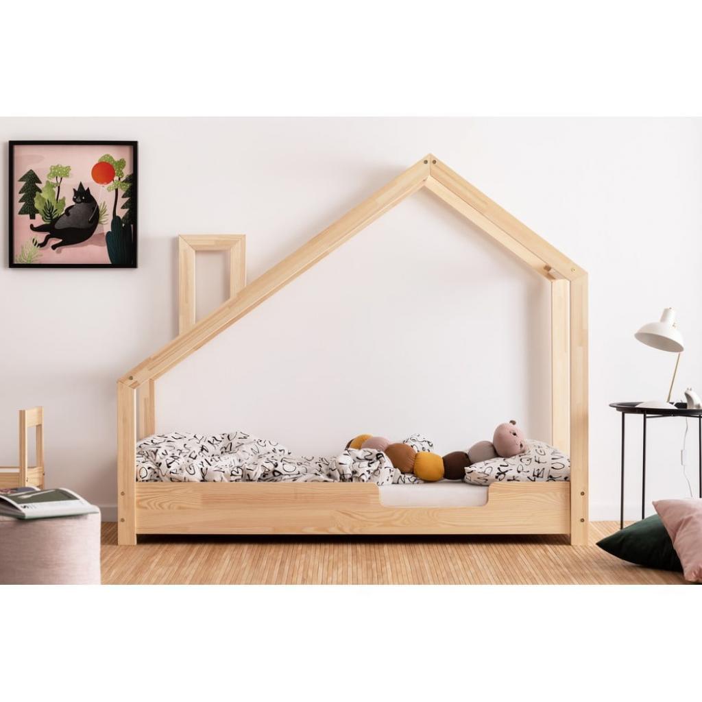 Produktové foto Domečková postel z borovicového dřeva Adeko Luna Carl,70x200cm