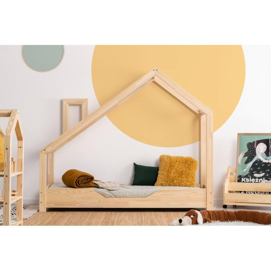 Produktové foto Domečková postel z borovicového dřeva Adeko Luna Bek,70x190cm