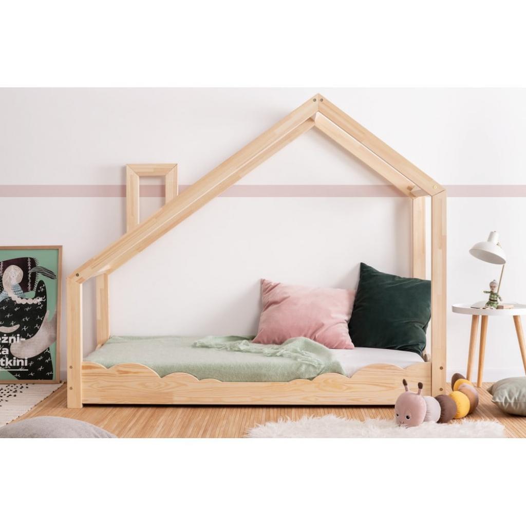 Produktové foto Domečková postel z borovicového dřeva Adeko Luna Drom,70x170cm