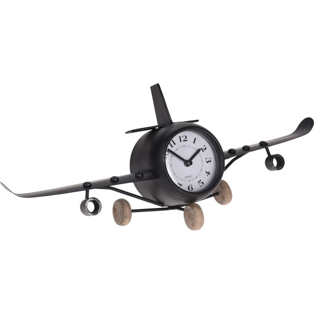 Produktové foto Stolní kovové hodiny Aeroplane, 41,8 cm