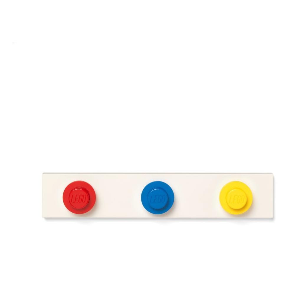 Produktové foto Nástěnný věšák v červené, mocdré a žluté barvě LEGO®