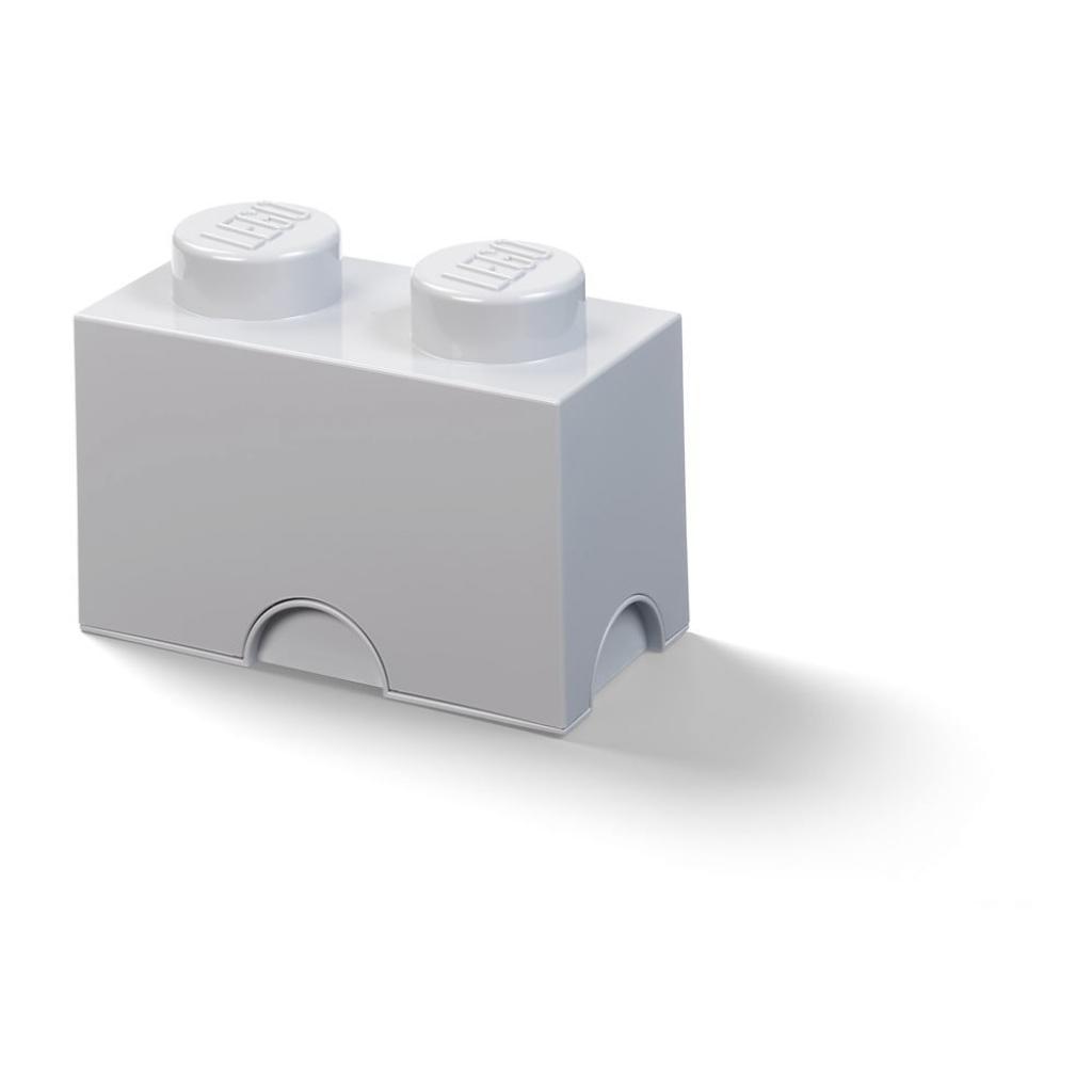 Produktové foto Dětský šedý úložný box LEGO® Rectangle